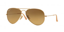 Ray-Ban RB 3025 AVIATOR Polarized 112/M2     MATTE GOLD brown gradient brown polar