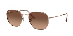 Ray-Ban RB 3548 N HEXAGONAL 91233M  GOLD blue gradient grey