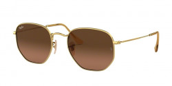 Ray-Ban RB 3548 N HEXAGONAL 912443  GOLD  brown gradient grey