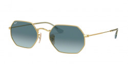 Ray-Ban RB 3556 N OCTAGONAL 91233M  GOLD blue gradient grey