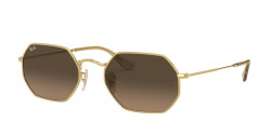 Ray-Ban RB 3556 N OCTAGONAL 912443  GOLD brown gradient grey