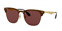 Ray-Ban RB 3576 N BLAZE CLUBMASTER 043/73  BRUSHED GOLD dark brown