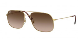 Ray-Ban RB 3595 ANDREA 901313  RUBBER GOLD brown gradient dark brown