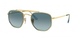 Ray-Ban RB 3648 M THE MARSHAL II 91233M  GOLD blue gradient grey