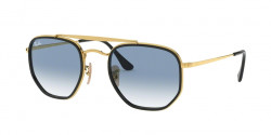 Ray-Ban RB 3648 M THE MARSHAL II 91673F  GOLD clear gradient blue