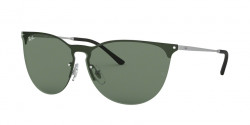 Ray-Ban RB 3652 911671  RUBBER SILVER dark green