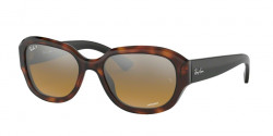 Ray-Ban RB 4282 CH 6281A2  RED HAVANA brown mir grey gradient polar