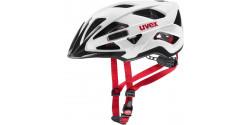Kask rowerowy Uvex Active CC 09 white black-red mat (biały, czarno czerwony mat)