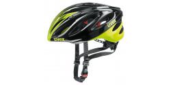 Kask rowerowy Uvex Boss Race  16 black - neon yellow (czarno neonowo żółty)