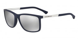 Emporio Armani EA 4058 57596G  DARK BLUE RUBBER light grey mirror silver 80