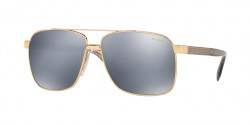 Versace VE 2174 1002Z3  GOLD dk grey mirror silver polar
