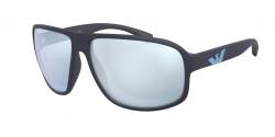 Emporio Armani EA 4130   57546J  MATTE BLUE blue mirror white