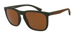 Emporio Armani EA 4132   5753R1  MATTE MILITARY GREEN brown