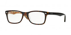 Ray-Ban RB 5228 5057  TOP DARK HAVANA ON BEIGE TEXT