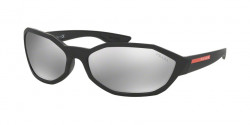 Prada PS 04 US ACTIVE 1BO2B0  MATTE BLACK light grey mirror silver 80