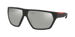 Prada PS 08 US ACTIVE DG02B0  BLACK RUBBER light grey mirror silver
