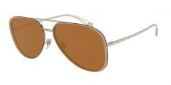 Giorgio Armani AR 6084 30136H  PALE GOLD brown mirror gold