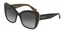 Dolce&Gabbana DG 4348 32158G  BLACK ON DAMASCUS GLITTER BLACK grey gradient