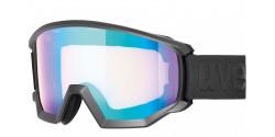 Gogle Uvex Athletic CV 55/0/527/2130 BLACK MAT mirror blue/colorvision yellow S1