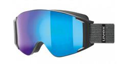Gogle Uvex G.GL 3000 TO 55/1/331/4030 BLACK MAT lasergold lite/clear & mirror blue