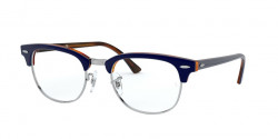 Ray-Ban RB 5154 CLUBMASTER 5910  TOP BLUE ON HAVANA RED