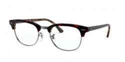 Ray-Ban RB 5154 CLUBMASTER 5911  TOP TRASP RED ON HAVANA ORANGE