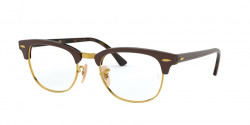 Ray-Ban RB 5154 CLUBMASTER 5969  TOP BROWN ON HAVANA YELLOW