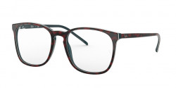 Ray-Ban RB 5387 5973  TOP RED HAVANA ON OPAL BLUE
