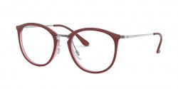 Ray-Ban RB 7140 5970  TOP BORDEAUX ON TRASP RED
