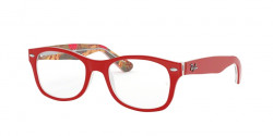 Ray-Ban Junior RY 1528 3804  RED ON TEXTURE RED BROWN
