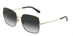 Dolce&Gabbana DG 2242 13348G  GOLD/BLACK, grey gradient