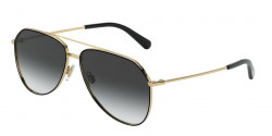 Dolce&Gabbana DG 2244 13348G  GOLD/BLACK, grey gradient