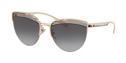 Bvlgari BV 6118  20338G PINK GOLD/BLACK  grey gradient