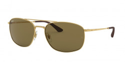 Ray-Ban RB 3654 001/73  GOLD dark brown