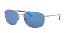 Ray-Ban RB 3654 003/55  SILVER blue mirror blue