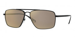 Versace VE 2216  12615A  MATTE BLACK light brown mirror dark gold
