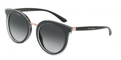 Dolce&Gabbana DG 4371  53838G  TOP CRYSTAL ON BLACK grey gradient