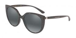 Dolce&Gabbana DG 6119 324188  TRANSPARENT GREY GLITTER SILVER grey mirror silver gradient