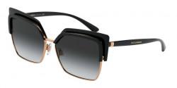 Dolce&Gabbana DG 6126  501/8G  BLACK/PINK GOLD grey gradient