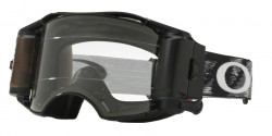 Gogle Oakley OO 7046 AIRBRAKE MX 57-989  JET BLACK SPEED RR clear