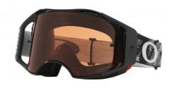 Gogle Oakley OO 7046 AIRBRAKE MX 704646  JET BLACK prizm mx bronze