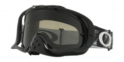 Gogle Oakley OO 7025 CROWBAR MX 57-974  JET BLACK SPEED W/D dark grey