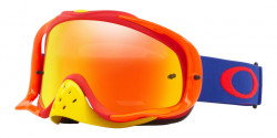 Gogle Oakley OO 7025 CROWBAR MX 702548  FLO BLUE RED fire iridium & clear