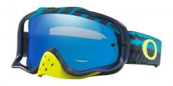 Gogle Oakley OO 7025 CROWBAR MX 702571  BRAKING BUMPS BLUE GREEN  black ice iridium