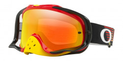 Gogle Oakley OO 7025 CROWBAR MX 702572  CIRCUIT RED YELLOW fire iridium