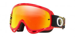 Gogle Oakley OO 7029 O-FRAME MX 702960  CIRCUIT RED YELLOW fire & clear