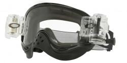 Gogle Oakley OO 7029 O-FRAME MX 702932  RACE-READY JET BLACK clear roll-off