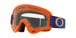 Gogle Oakley OO 7030 XS O-FRAME MX 703006  SKOCKWAVE ORANGE BLUE  clear