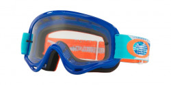 Gogle Oakley OO 7030 XS O-FRAME MX 703013  TREADBURN ORANGE BLUE clear