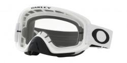 Gogle Oakley OO 7068 O FRAME 2.0 MX 706845  MATTE WHITE clear